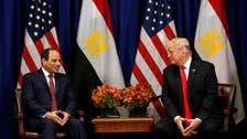 ترمب: سندرس استئناف المساعدات العسكرية لمصر