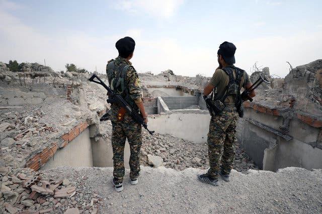 نیروهای ائتلاف سوریه دمکراتیک در الرقه