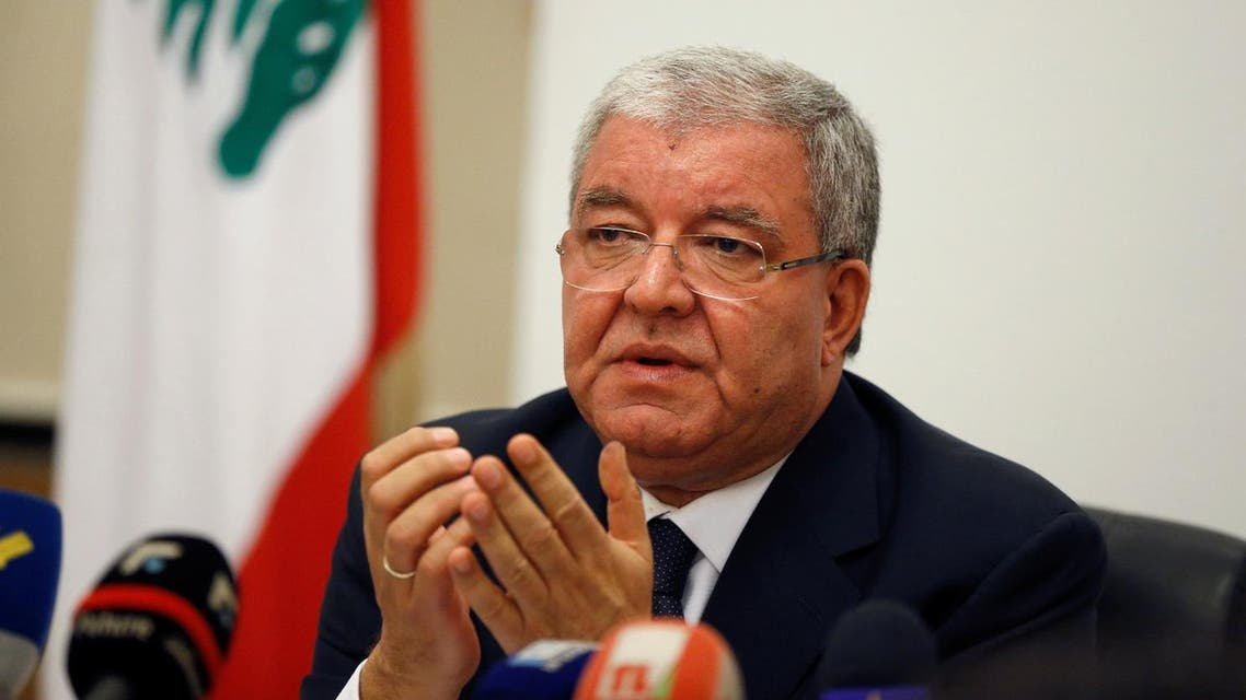 Lebanon's Interior Minister Nohad Machnouk talks after closing the polling stations during Beirut's municipal elections in the Interior ministry in Beirut, Lebanon, May 8, 2016 Reuters