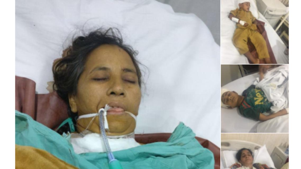 صور لبعض الجرحى نشرها المتحدث بإسم الجيش الباكستاني