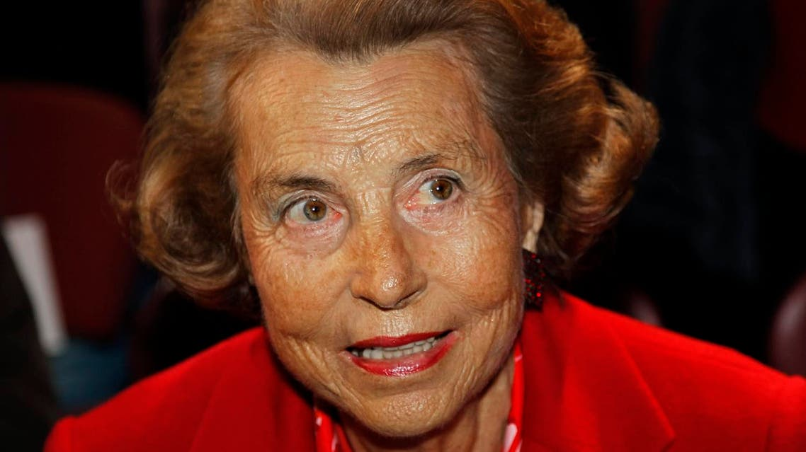 Liliane Bettencourt, heiress to the L'Oreal fortune, attends French designer Franck Sorbier's Haute Couture Spring-Summer 2011 fashion show in Paris January 26, 2011. Reuters