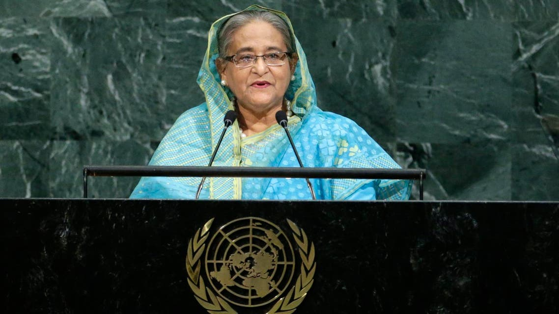 Sheikh Hasina addresses the 72nd United Nations General Assembly in New York on September 21, 2017. (Reuters)