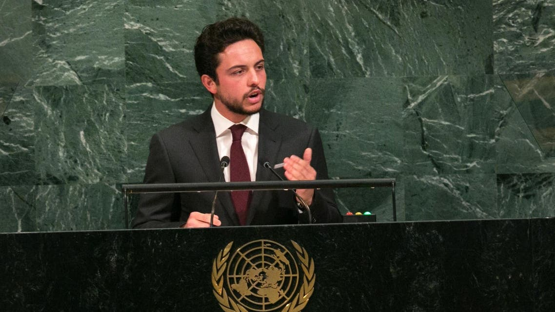 Crown Prince Al Hussein bin Abdullah II addresses the UN General Assembly at the United Nations on September 21, 2017 in New York. (AFP)