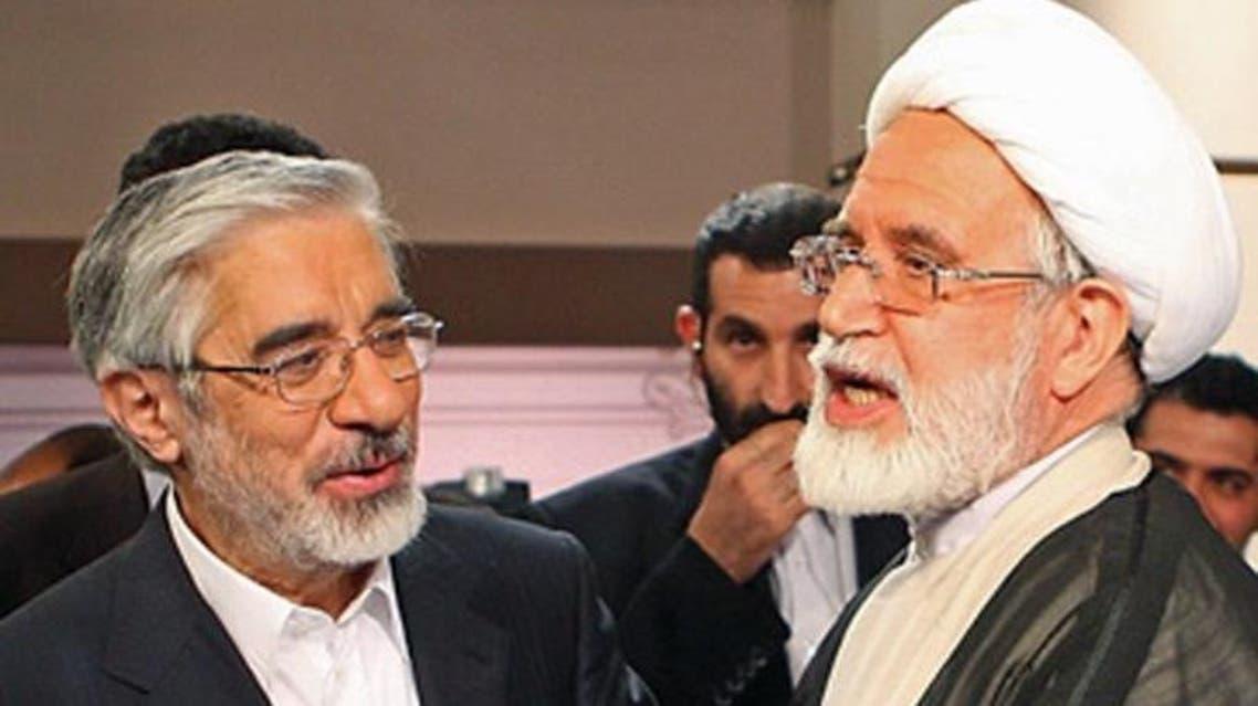 مهدي كروبي ومير حسين موسوي