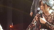 The Egyptian Adele? Singer Sherine kisses hand of fan at Paris concert