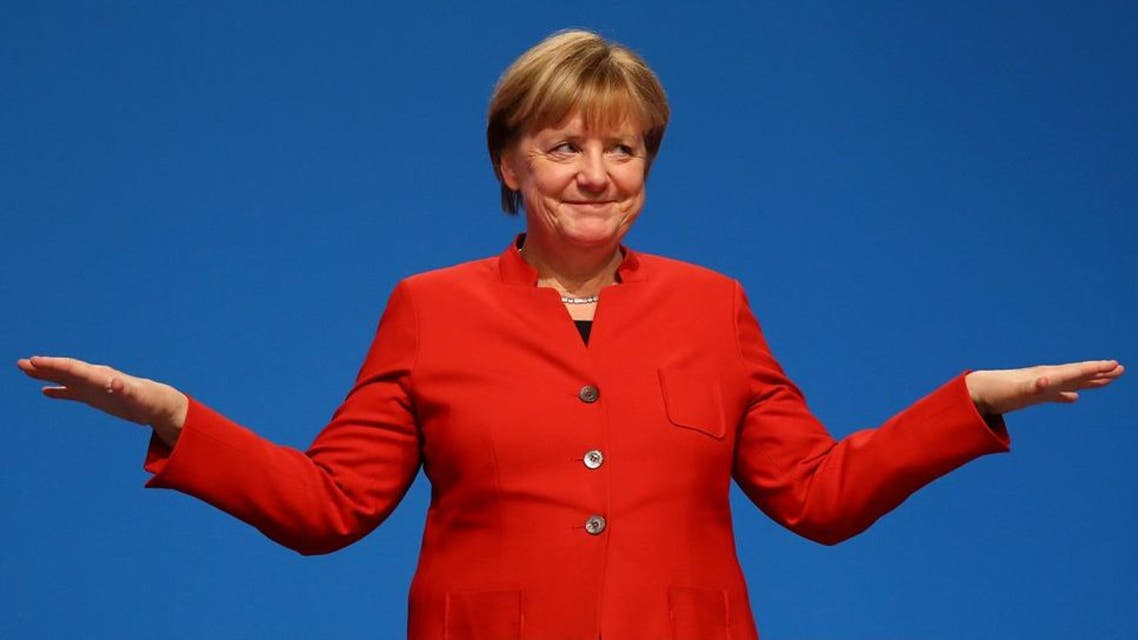 Projections showed Merkel's conservative Union bloc finishing first in Sunday's election but well short of its election results in 2013. (Reuters)