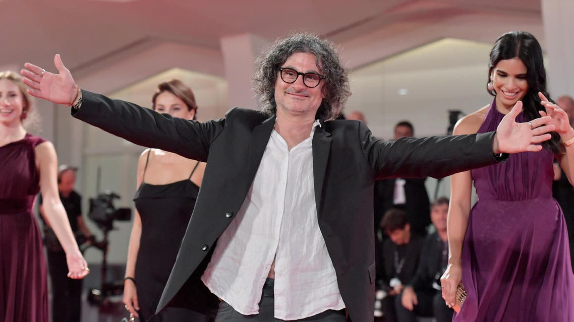 "Director Ziad Doueiri arrives at the premiere of the movie ""The Insult"" (L'Insulte) presented in competition ""Venezia 74"" at the 74th Venice Film Festival on August 31, 2017 at Venic Lido. Tiziana FABI / AFP"