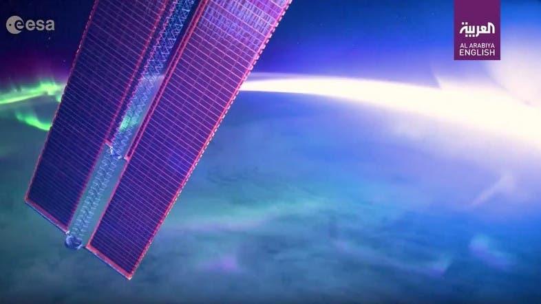 WATCH Breathtaking View Of The Northern Lights Taken From Space - Al arabiya english