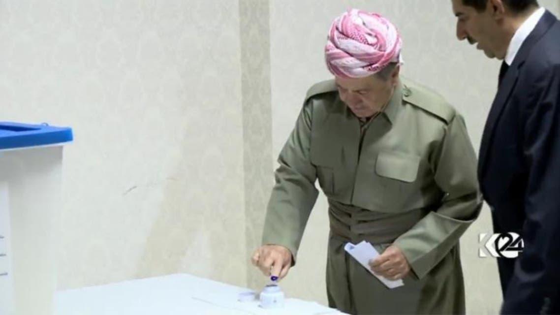 مسعود بارزانی رئیس اقلیم کردستان