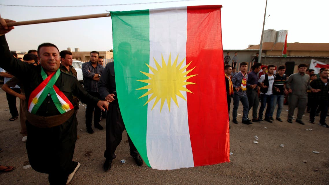 Kurds celebrate during their independence referendum in Erbil, Iraq September 25, 2017. REUTERS/Azad Lashkari
