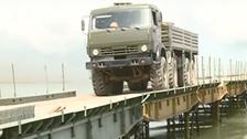 """شام: روس کی جانب سے دریائے فرات پر """"عسكری"""" پُل کی تعمیر"""