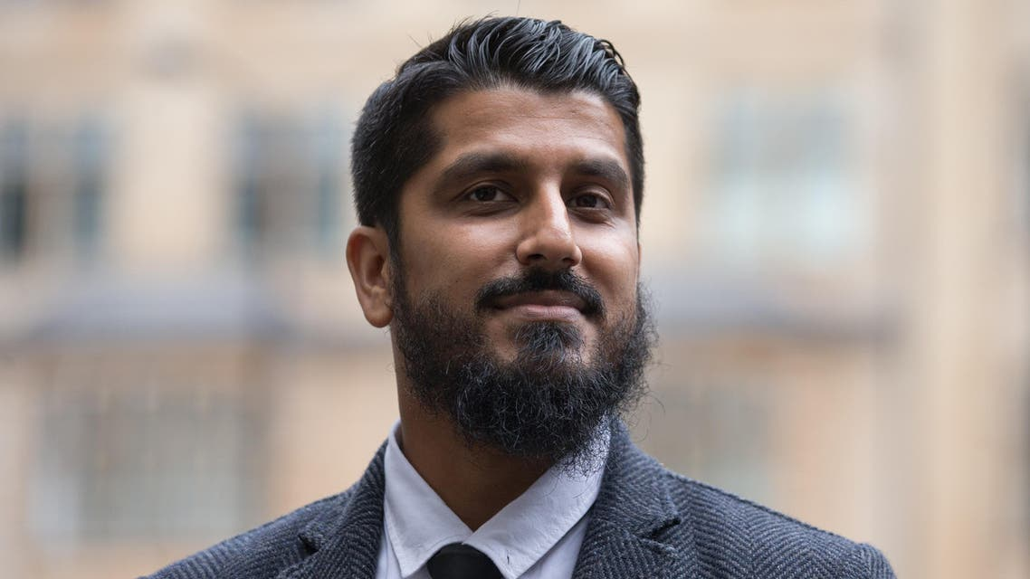 International director of campaign group Cage, Muhammad Rabbani arrives at Westminster Magistrates' Court in London on September 25, 2017, for his trial, after being accused of refusing to reveal his mobile phone password at Heathrow Airport last year.  Daniel LEAL-OLIVAS / AFP