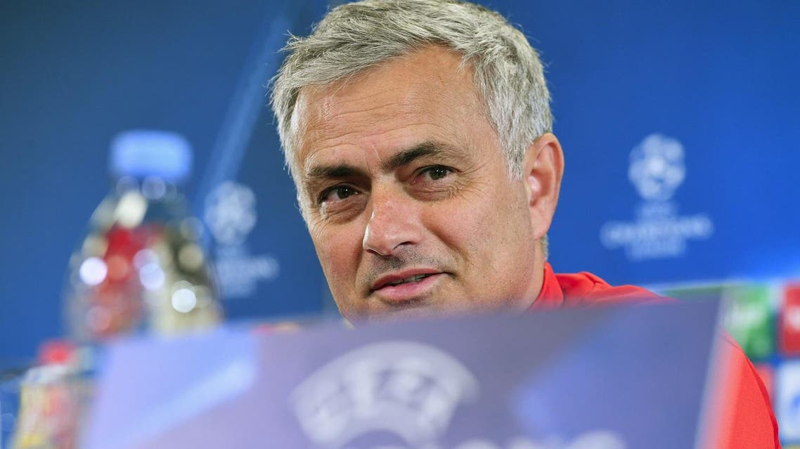 Manchester United's coach from Portugal Jose Mourinho gives a press conference at the Stadion CSKA Moskva in Moscow on September 26, 2017 on the eve of the UEFA Champions League Group A football match between PFC CSKA Moskva and Manchester United FC. (AFP)