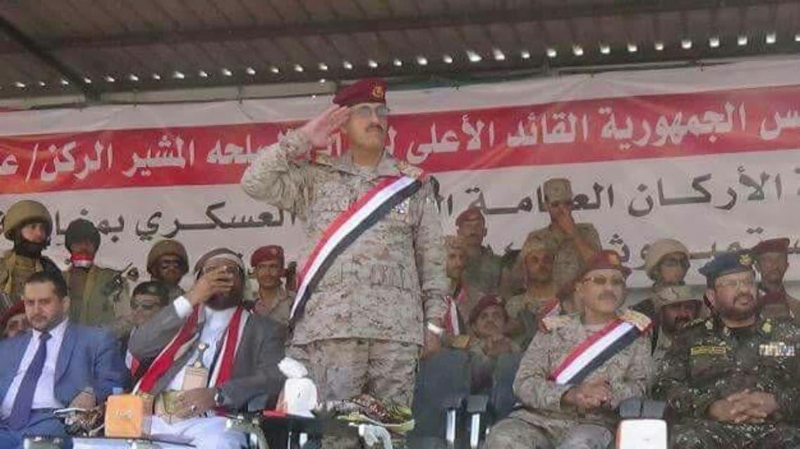 رئيس أركان الجيش اليمني خلال العرض العسكري