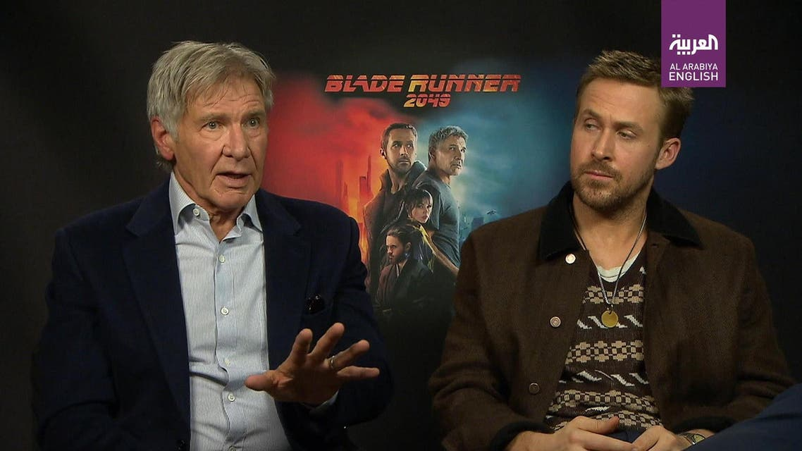 Harrison Ford and Ryan Gosling sit down with Al Arabiya's William Mullally to describe their first impressions of each other on the set of Blade Runner 2049. (Al Arabiya)