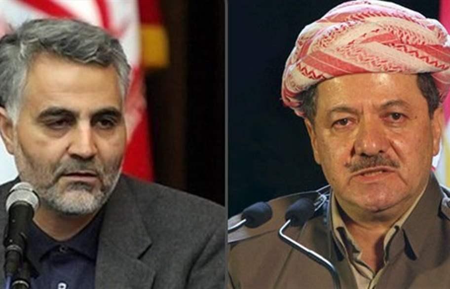مسعود بارزاني وقاسم سليماني