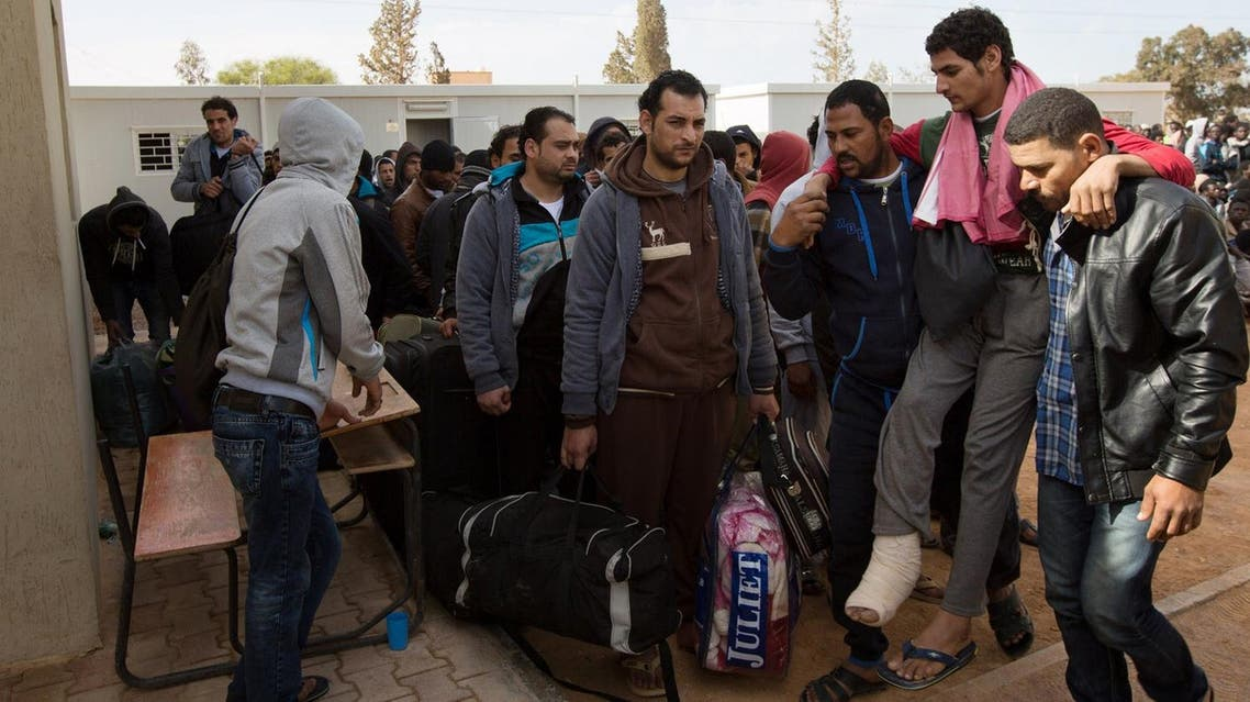 File photo of Egyptians being deported following the beheading of a group of Coptic Christians by militants after they were abducted from Sirte. (AP)