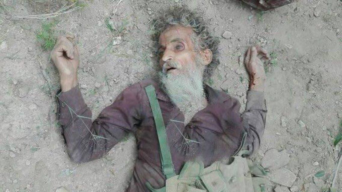 صورة نشرها ناشطون وقالوا إنها للإرهابي أحمد عبدالنبي عقب مقتله برصاص قوات الأمن