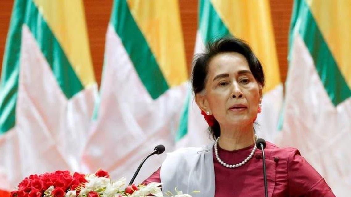 زعيمة ميانمار أونغ سان سو كي