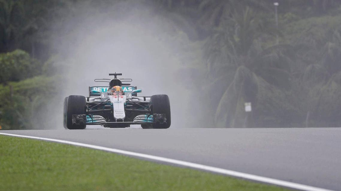 Mercedes' Lewis Hamilton drives at Sepang, Malaysia during practice session on September 29, 2017. (Reuters)