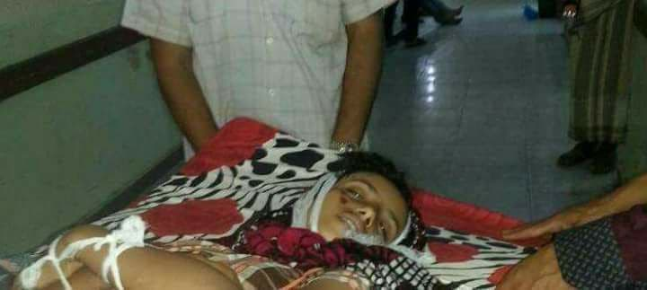 الطفلة هدى نجيب الجابري 13 عاماً والتي قتلت برصاص قناص حوثي