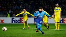 Arsenal's Giroud reaches ton in win, Lokomotiv striker bags quick treble