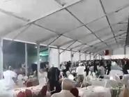 شاهد معركة بالكراسي والصحون في مؤتمر حزبي بالمغرب