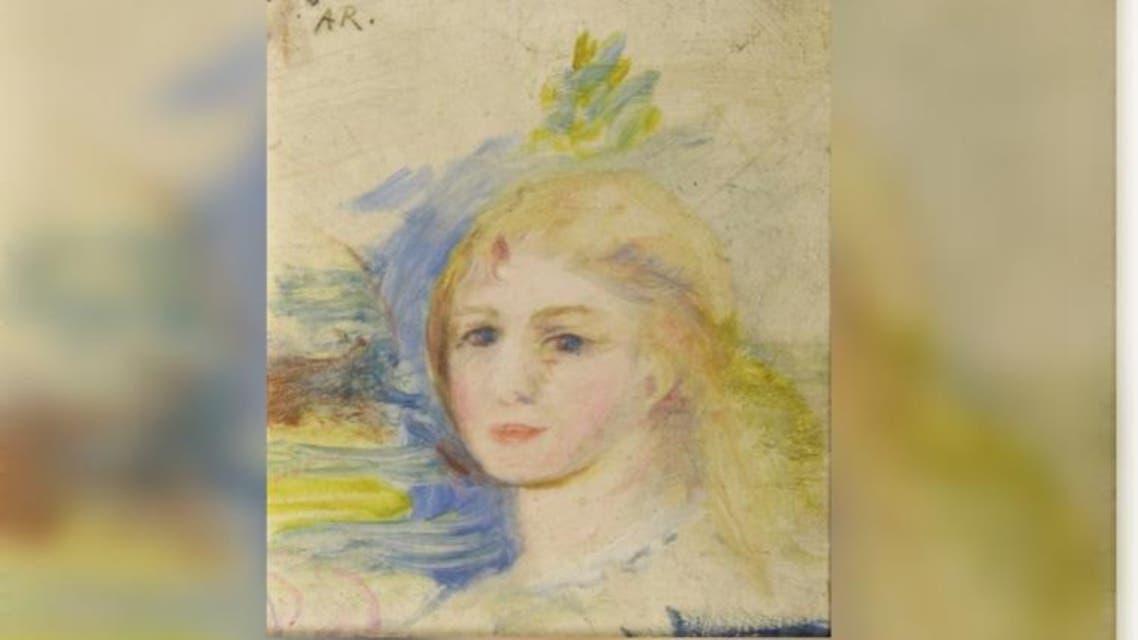 Portrait d'une jeune fille blonde Auguste Renoir
