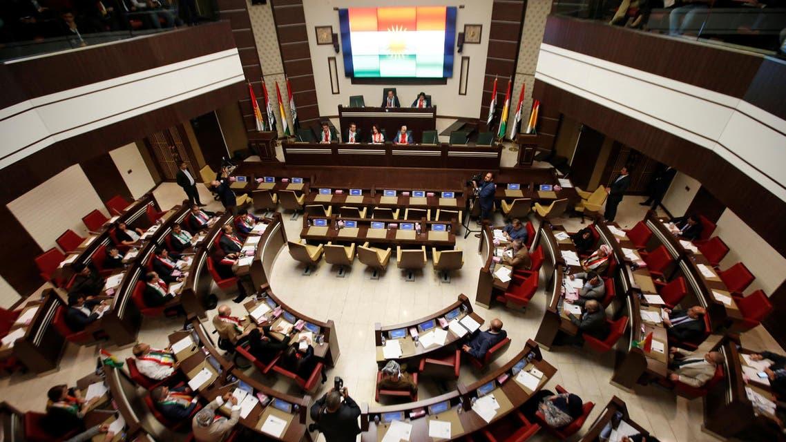 General view of the Kurdistan Parliament meeting in Erbil, Iraq September 15, 2107. REUTERS/Azad Lashkari