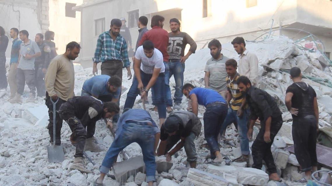 THUMBNAIL_ غارات روسية تقتل 24 مدنيا في ريف إدلب وحماه