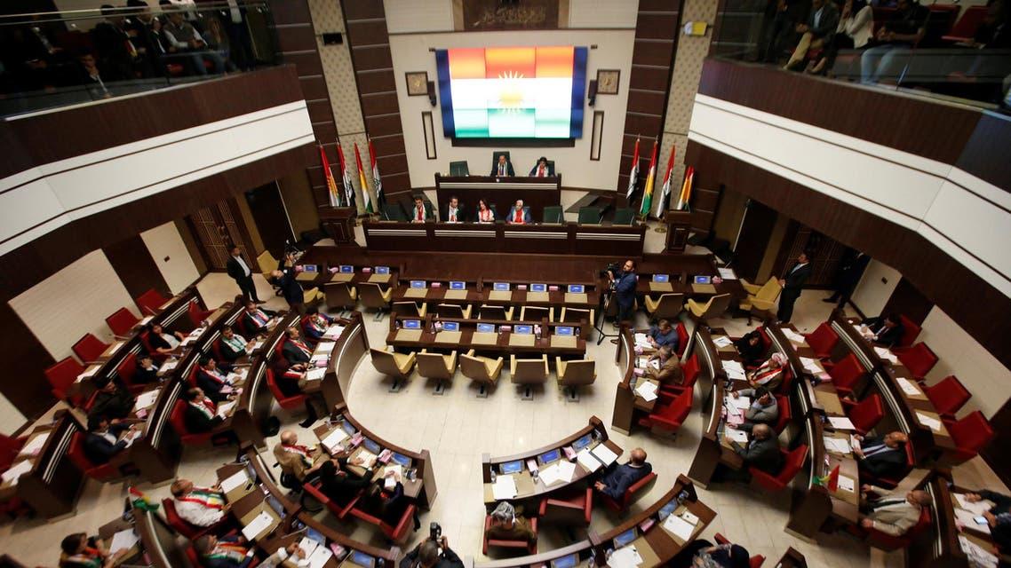 General view of the Kurdistan Parliament meeting in Erbil, Iraq September 15, 2107. (Reuters)