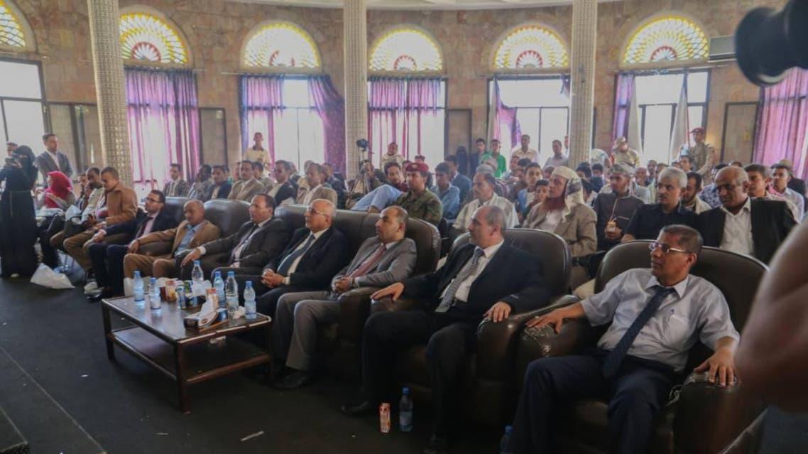 نائب رئيس الحكومة اليمنية خلال حضوره اليوم الثلاثاء فعالية في تعز