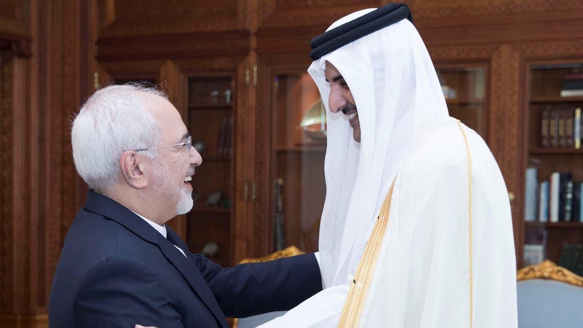 أمير قطر وجواد ظريف