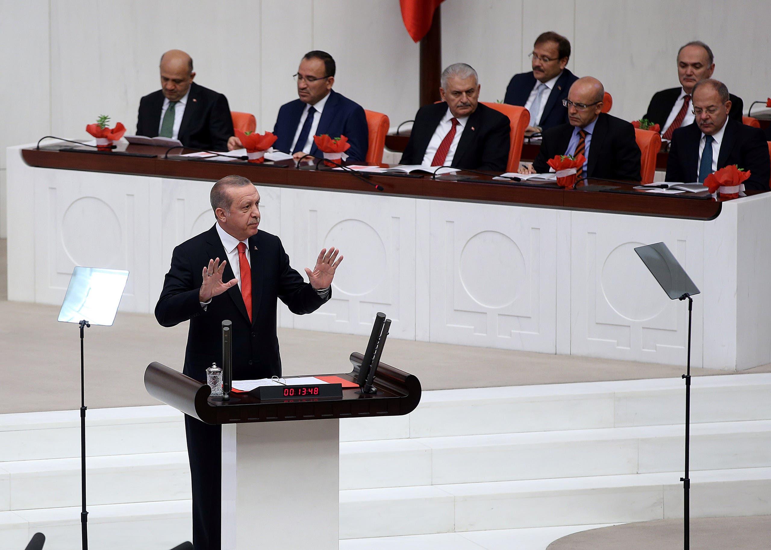 الرئيس أردوغان بالبرلمان التركي