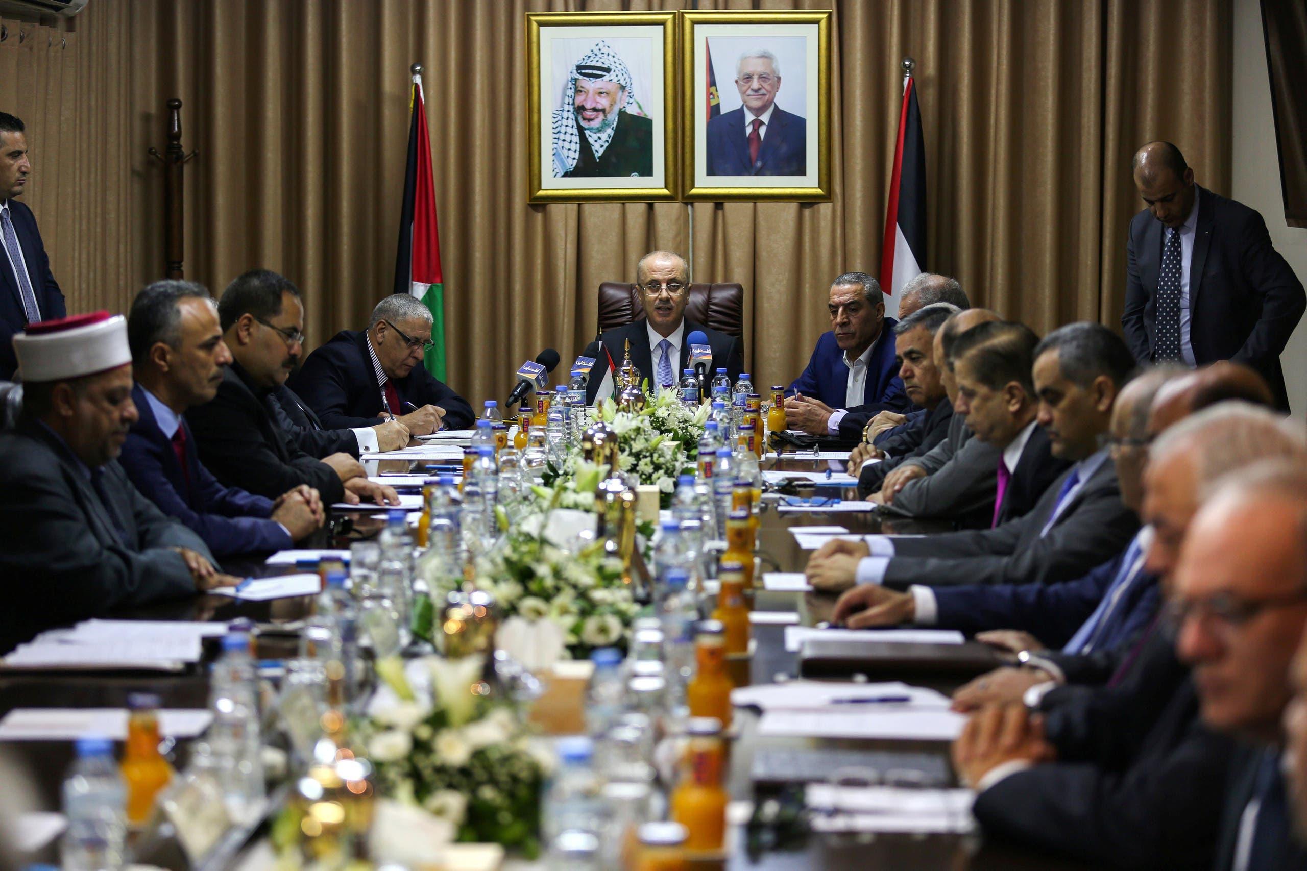 جانب من الاجتماع بغزة