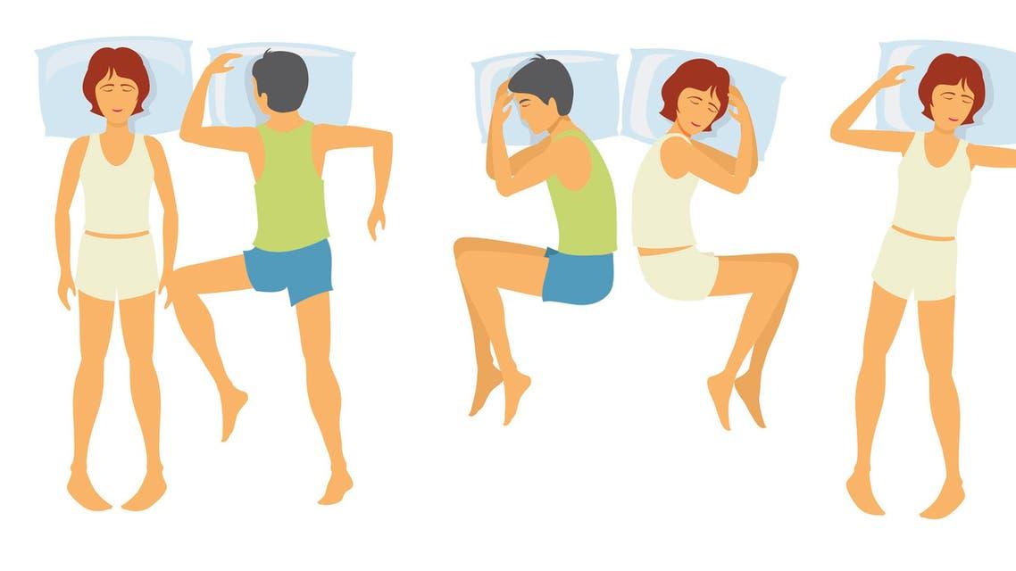 sleep positions وضعيات النوم