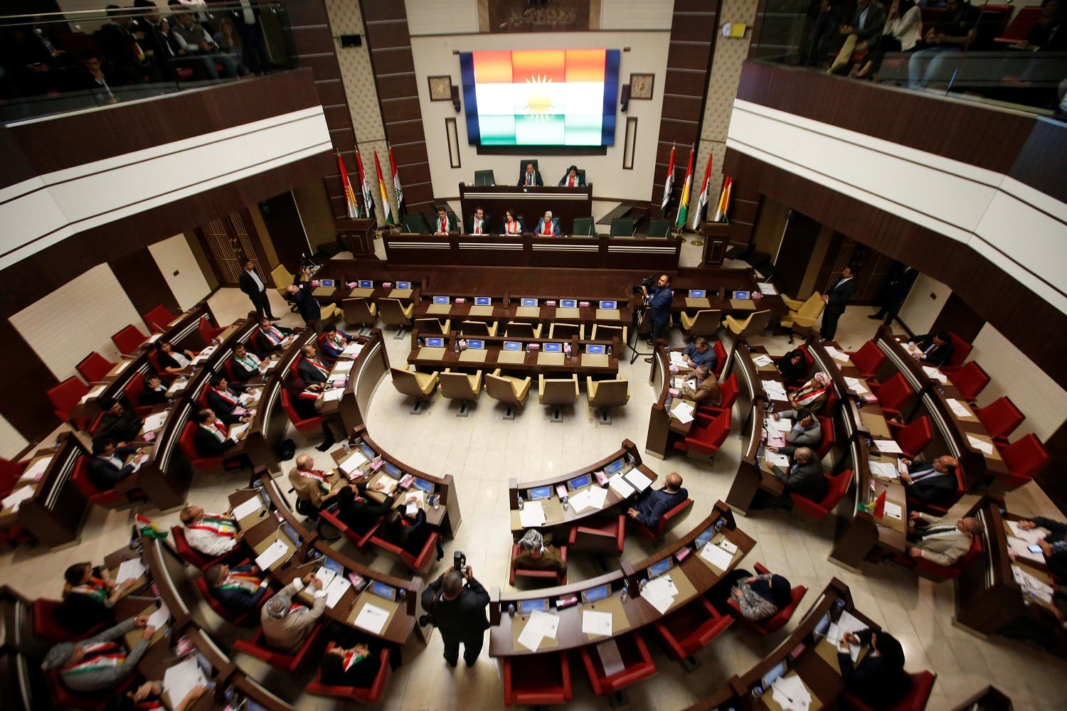 Kurdistan Parliament meeting in Erbil, Iraq September 15, 2107. (Reuters)