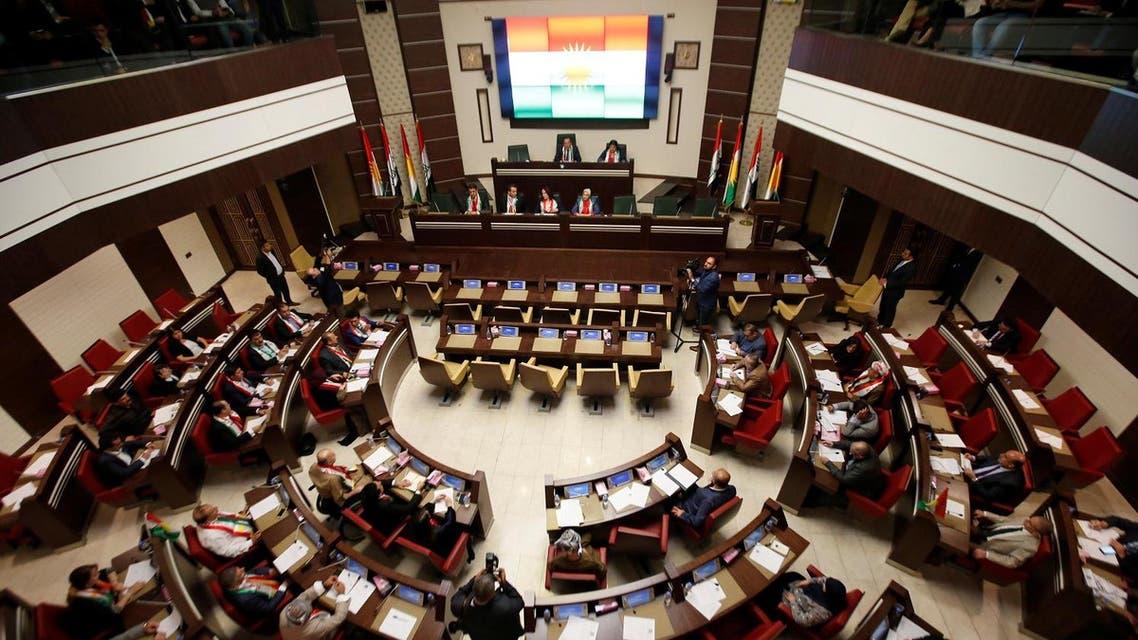 Kurdistan Parliament meeting in Erbil, Iraq September 15, 2107. (Reuters)