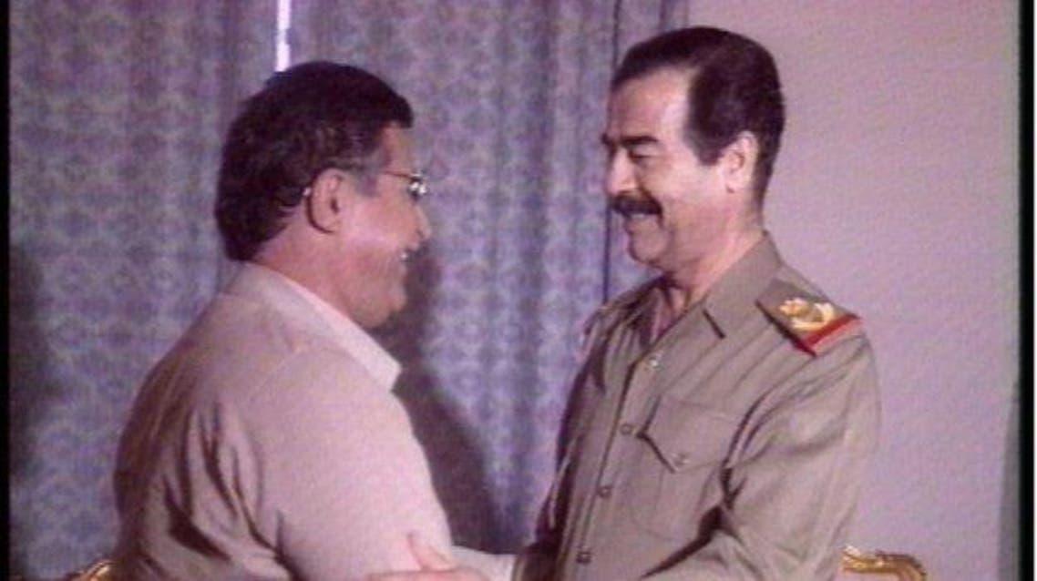 جلال الطالباني وصدام حسين