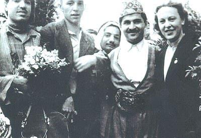 جلال طالباني في مؤتمر الطلبة والشباب العالمي في موسكو عام 1955 رئيسا لوفد طلبة كردستان
