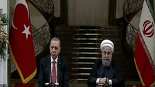 ترکی کے صدر سرکاری دورے پر تہران پہنچ گئے