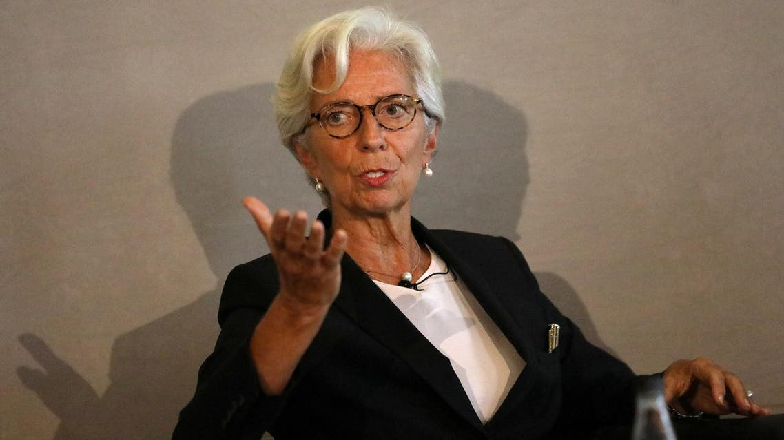 Christine Lagarde speaks at the Bank of England conference 'Independence 20 Years On' in London, on September 29, 2017. (Reuters)