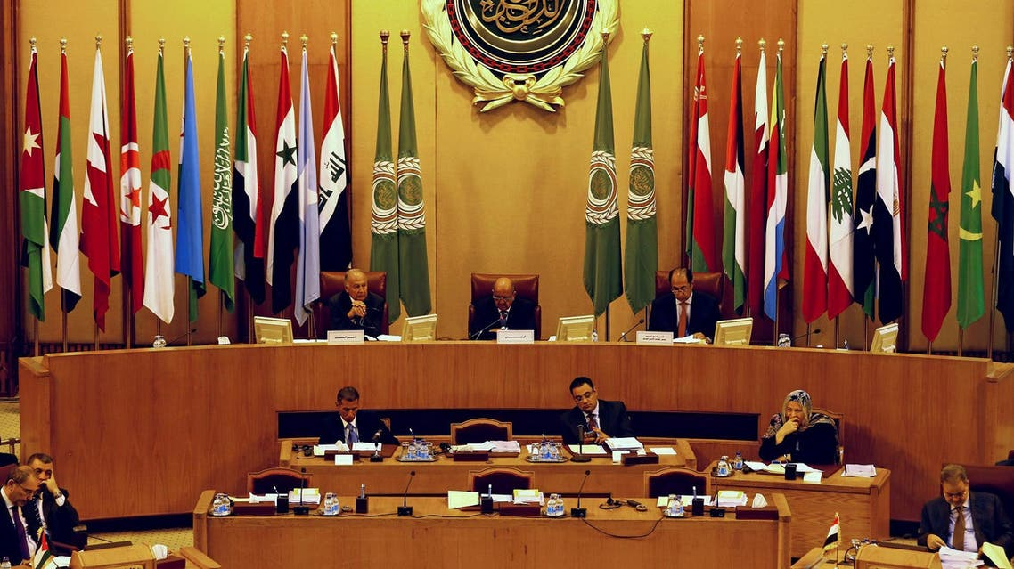 Secretary General of the Arab League Ahmed Aboul Gheit (L) during Arab Foreign Ministers meeting in Cairo, on September 12, 2017. (Reuters)