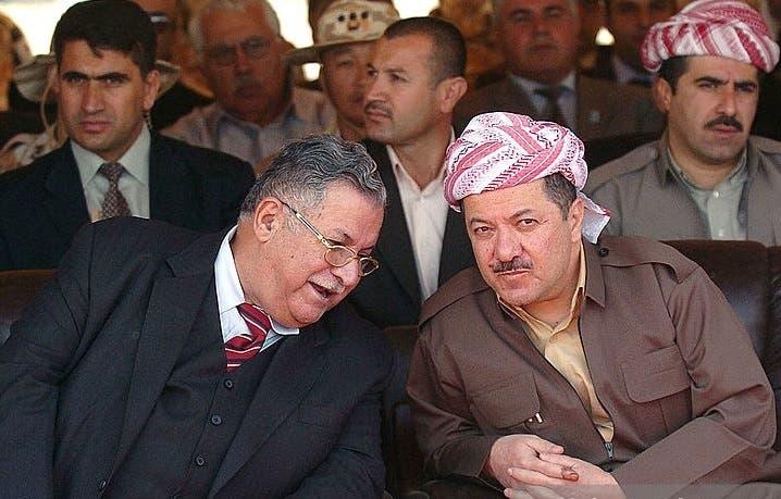 مرحوم جلال طالبانی با مسعود بارزانی