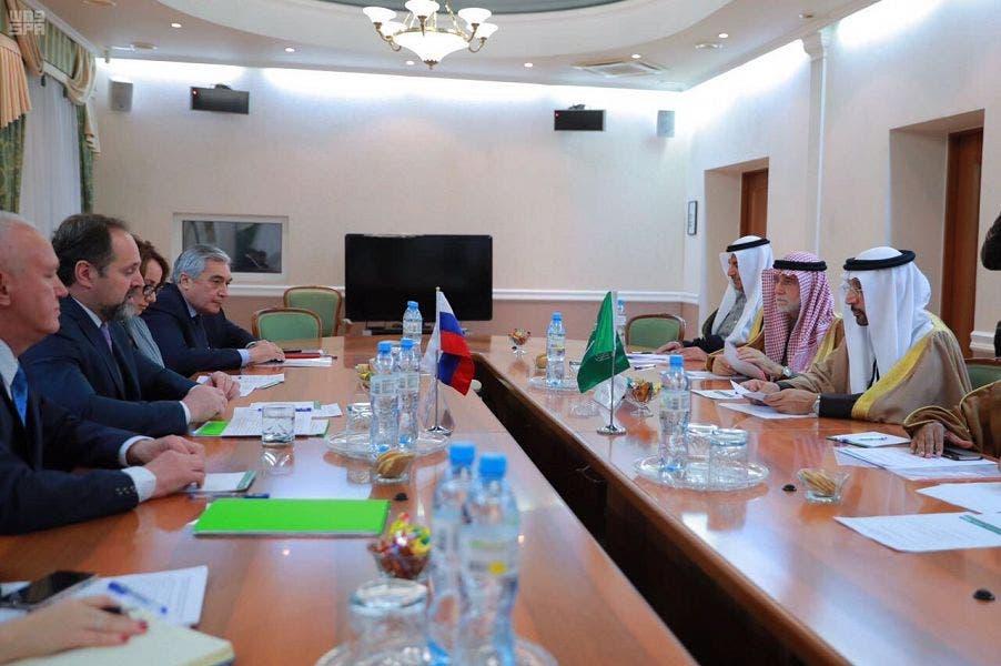 الفالح مع وزير المصادر الطبيعية والبيئة الروسي سيرجي دونسكوي