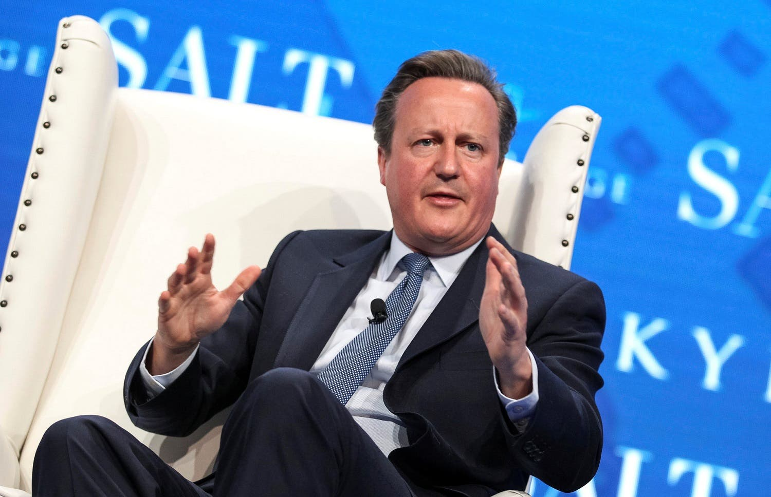 Former British Prime Minister David Cameron speaks during the SALT conference in Las Vegas, Nevada, US May 17, 2017. (Reuters)