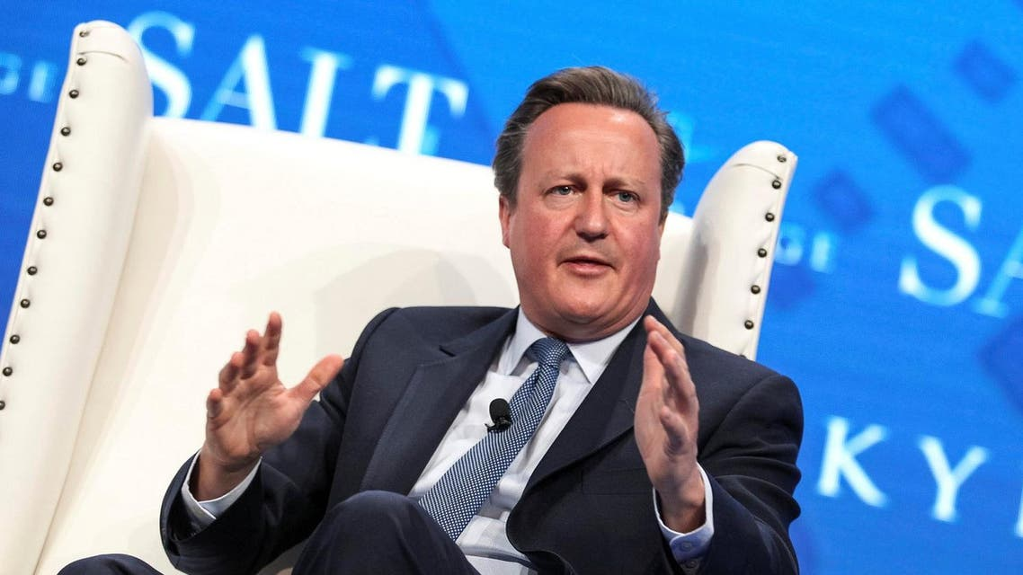 Former British Prime Minister David Cameron speaks during the SALT conference in Las Vegas, Nevada, US May 17, 2017. (Reuters))
