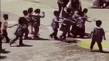 Footage shows how toddlers and teachers braved deadly Mexico earthquake