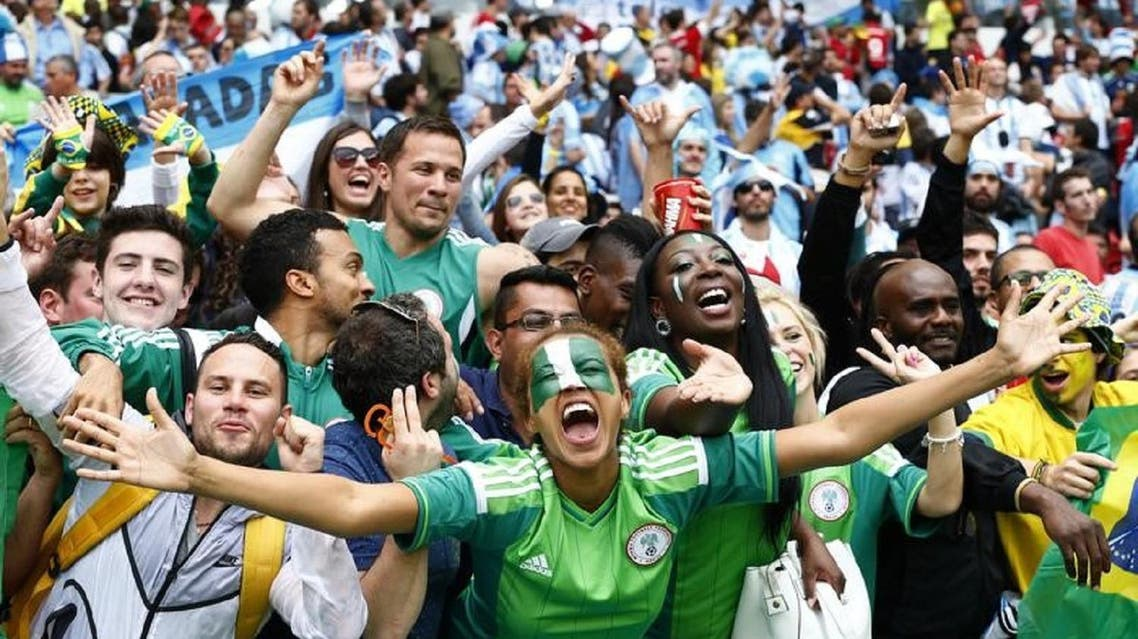 Fans of Nigeria during a match against Argentina at the 2014 FIFA World Cup in Brazil. (File photo: Reuters)