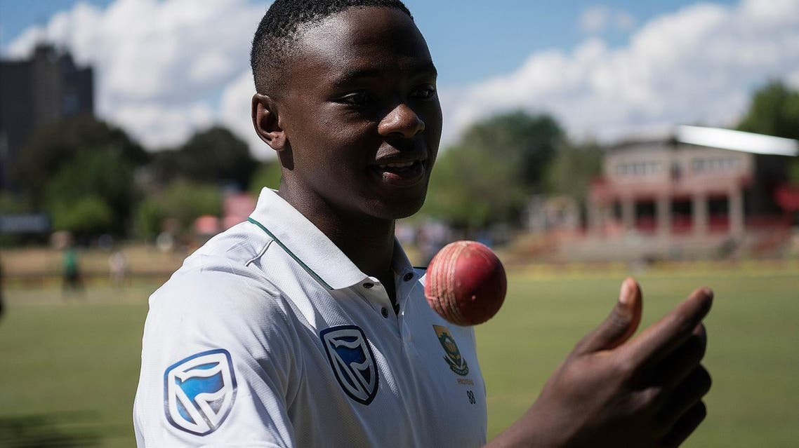 Kagiso Rabada celebrates his 100 wickets in Tests after South Africa won at the end of the third day of the second Test Match between South Africa and Bangladesh in Bloemfontein, on October 08, 2017. (AFP)